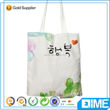 New fashion elegant Korea style printed blank canvas ladies tote bags