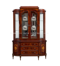 China Classical Brown Cheap Dining Room Wine Display Cabinet Design