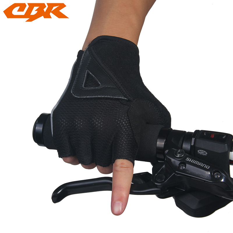 Sports Bike Bicycle Leather short Finger Gloves Breathable cotton lycra gloves Cycling Gloves