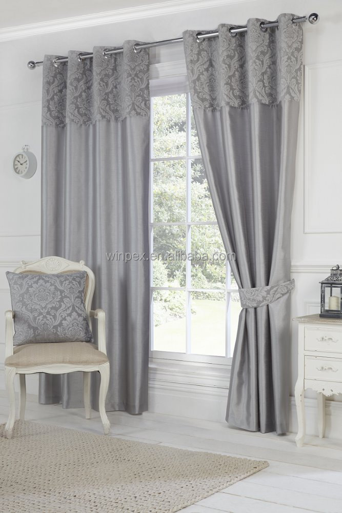 Hot Sell Window Curtain, Chenille with faux silk Curtain,Opulence curtain