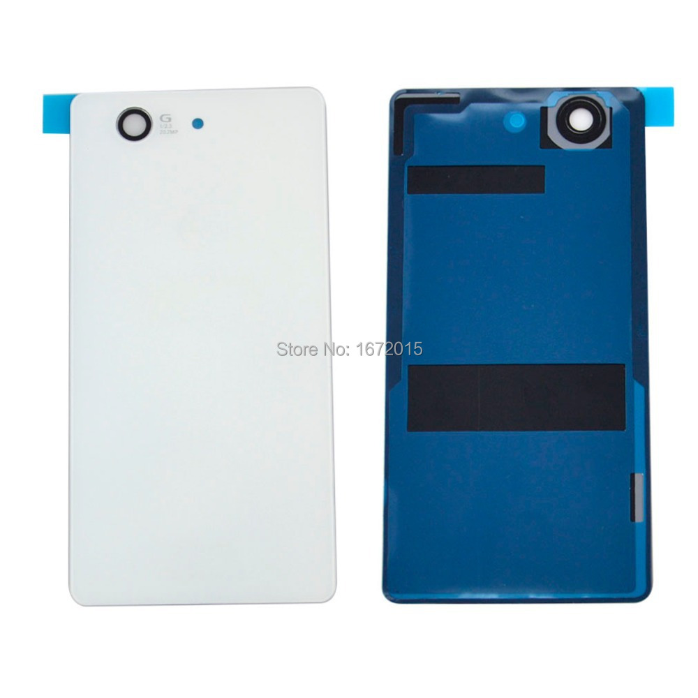 Back Door Case Battery Cover Housing Replacement Parts For Sony Xperia Z3 Mini Compact D5803 , White Free shipping !!!