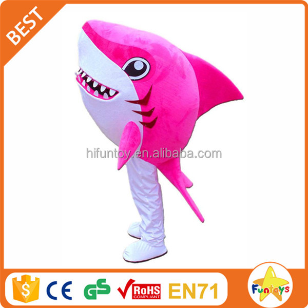 Funtoys CE funny pink shark mascot costume for festival