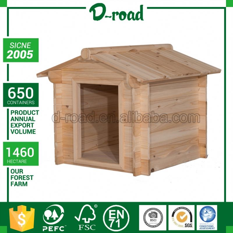 Oem Production Outdoor Dog House With Feeder