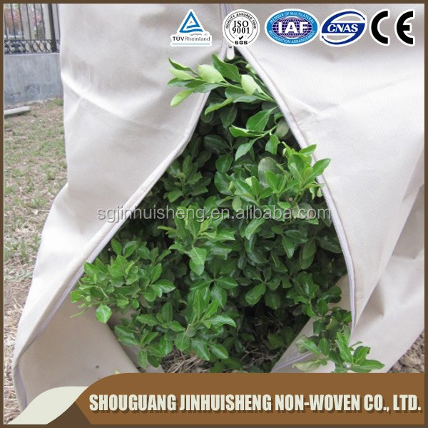 breathable PP nonwoven fabric winter frost protection grow bags/plant protective jackets/frost protection cover bags