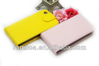 Top Open Case Leather Cover Flip Cellphone Case for iPhone 5C with Card Holder
