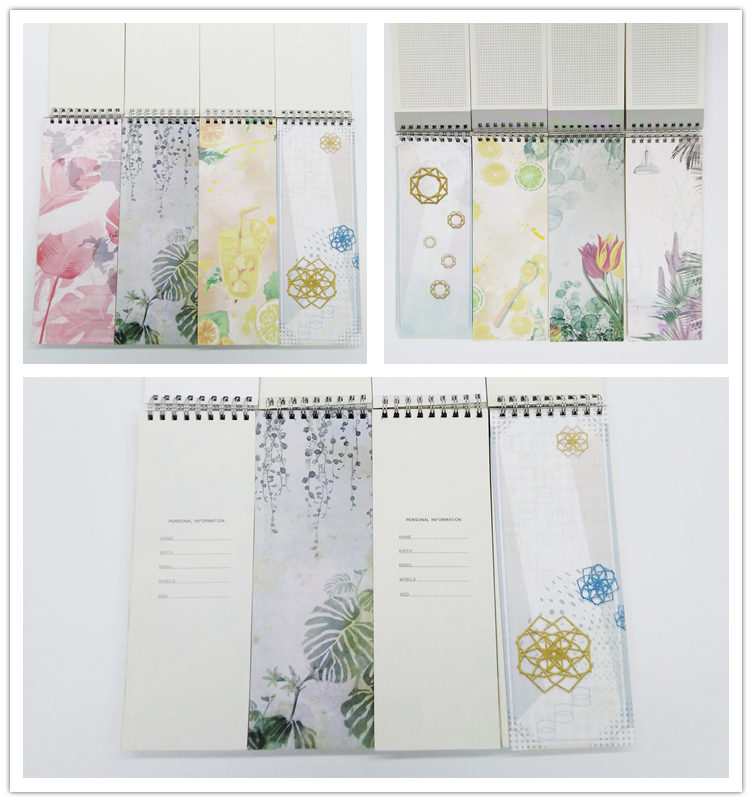 A5 Dairy 2019 2020 PU Leather Spiral Bound Long To Do List Notepad With Packaging Box