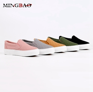 Latest Plain Color Breathable Comfortable Women Canvas Shoes