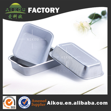 Rectangular health food container thermos insulated aluminium airline food catering casserole