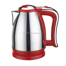 1.6L red coloured rapid boil electric water kettle with FADA controller