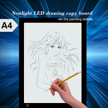 Electronic adjustable tattoo LED drawing light board / ultra-thin fancy LED copy pad