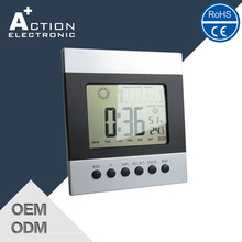 Ce Certified Quality Assured weather station digital world time table Alarm clock