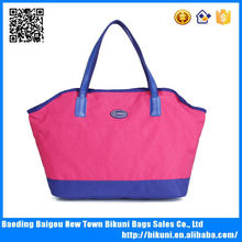 Stylish large waterproof nylon hot sell women s handbag