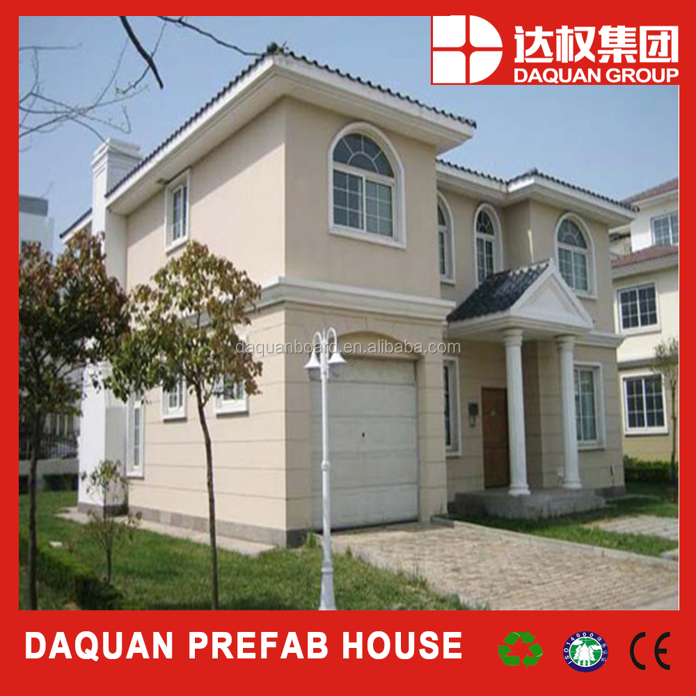 New design beautiful prefab villa/home with EPS Cement composite panels from DQ China