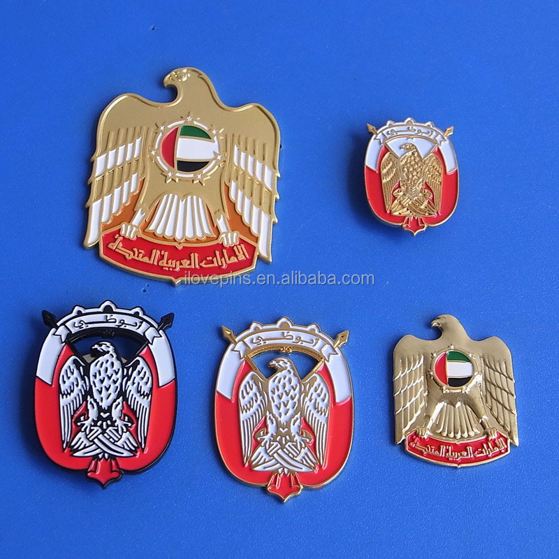 uae enamel falcon eagle pin badge/ key chain / necklace/ tie pin