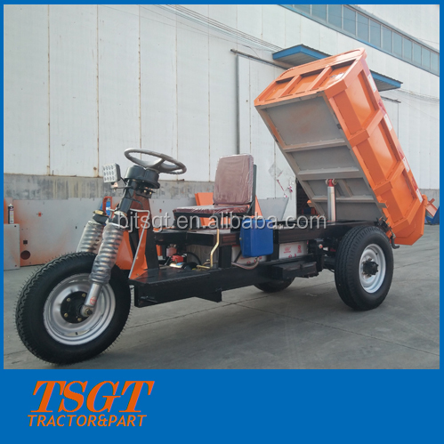 big load hydraulic self dumping electric tricycle