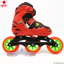2017 outdoor sports hot sale wholesale adjustable 3 wheel inline skates