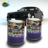 with Abrasive paper aqua pearl metallic urethane basecoat car paints