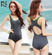 Women's One Piece Skinny Back Cut Out Athletic Swimwear Sexy