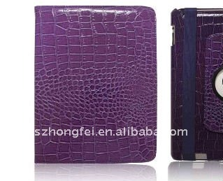 CROCO-SKIN Works Cover Case for iPad2(purple)