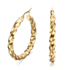 Most popular twisted fashion gold hoop filled hoop jewellery earring