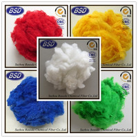 1.5D*38mm dyed polyester staple fibre