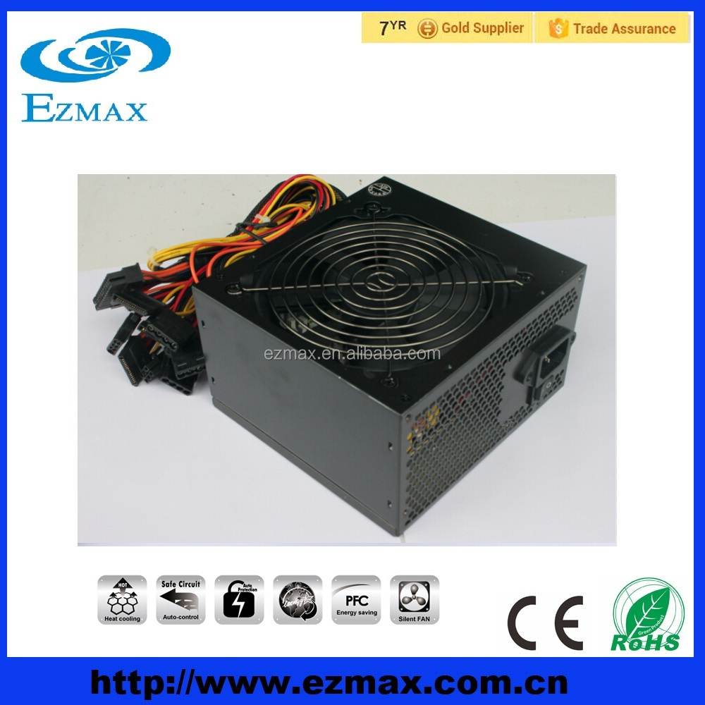 High quality 500W ATX PSU for desktop computer with PFC from China manufactory