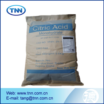 Food grade Citric acid / 25kg kraft bag Citric acid / SGS approved quality Citric acid