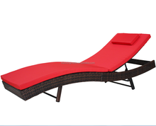 Outdoor Garden Patio Furniture Wicker Chaise Lounge Chair Sun Bed Rattan Sunbed