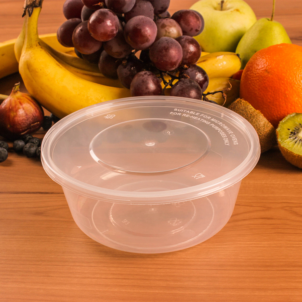 wholesale disposable round airtight plastic food container with lid airtight dog food containers glass container