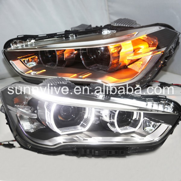 For BMW X1 F48 LED Strip Angel Eyes Head Light 2015 -2017