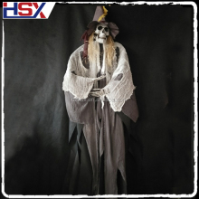 Wholesale With LED light and Sound Control Ghost Voice Halloween Hanging Ghost Skull Decoration