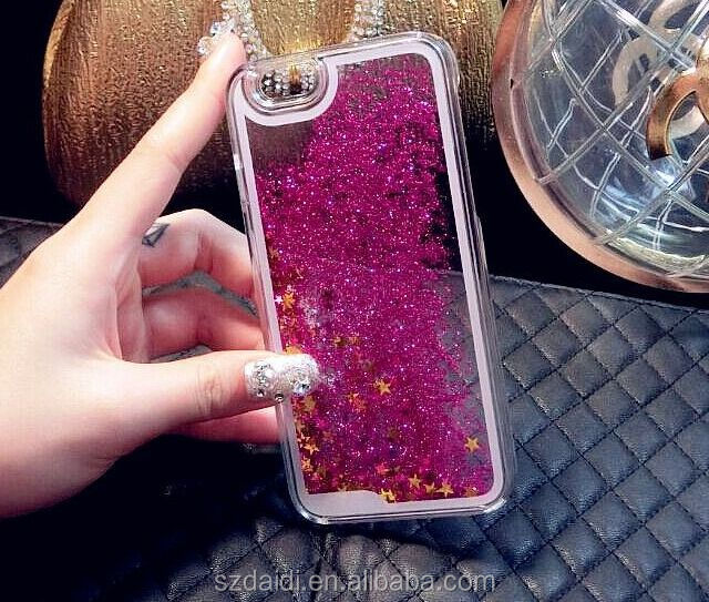 Shining Liquid Star Case For iPhone 6, For iPhone6 Glitter Flowing Star Case Cover, For iPhone 6 Star Case