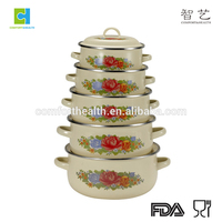 5pcs enamel Kitchen Decor Enamelware Cookware