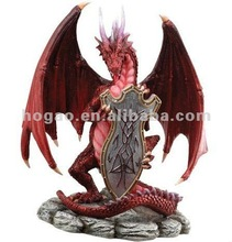 resin dragon statue