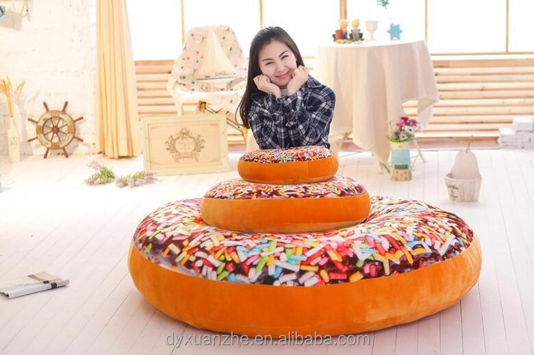 Chocolate Donut 3D Printed Donut Plush Car Seat Cushion For Wholesale