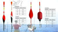 fishing tackle and floats