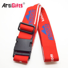 Wholesale Promotional Custom Made Polyester Luggage Strap with Detach Buckle