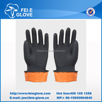 industrial latex chemical resistant rubber gloves