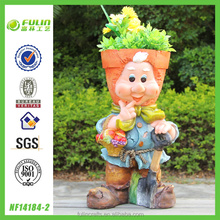 Gnome Face Garden Flower Pot