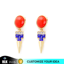 alibaba express china dangle arabic gold rivet earring designs