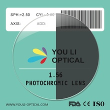 1.56 photochromic lente gris