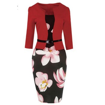 2018 fashion design wholesale casual elegant sexy dresses for women office lady formal dress