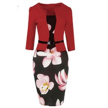 2018 fashion trend design wholesale cheap elegant sexy dresses for women office lady formal dress