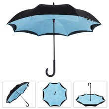 Fashion Unique Inverted Drip Free Vehicle Reflective Strip Safety Car Umbrella Anti-uv Sun And Rain Umbrellas