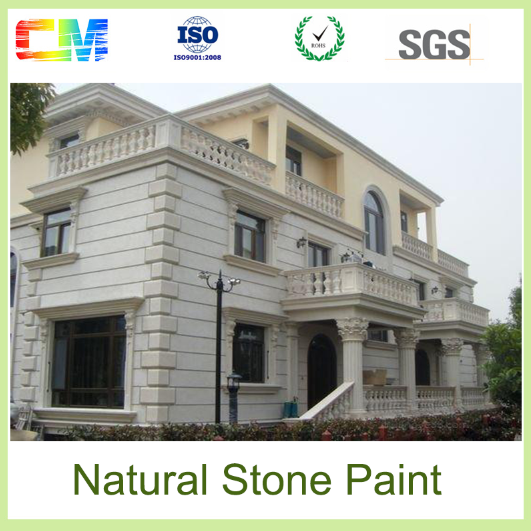 Waterpfoof UV proof odorles external building decorative natural stone texture wall coating