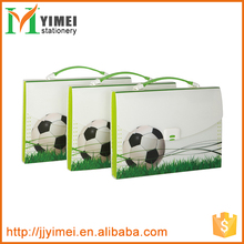 Hot selling customized printing design portable plastic A4 expanding file