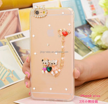 China manufacturer OEM ODM phone case for iphone 6 dimond frame 1.0mm thickness TPU back cover case for iphone 6