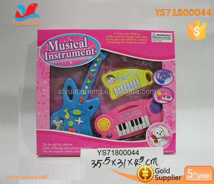 funny toy musical instruments keyboard from china piano and guitar plastic toys rock for children