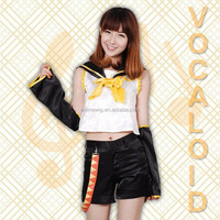 Wholesale Vocaloid Kagamine Rin Anime cosplay Costume uniforms Halloween Costume