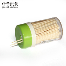 Bamboo Toothpicks 300 Count Each in Plastic Dispenser with Twist Top